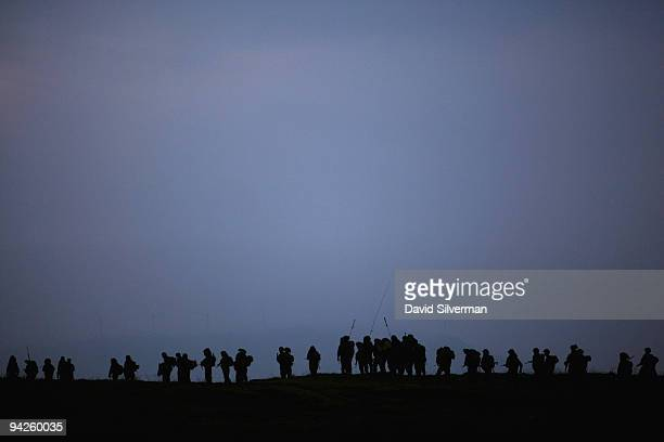 Israeli army paratroopers set off before dawn for livefire training exercise December 10 2009 on the Golan Heights The Israeli Knesset approved...