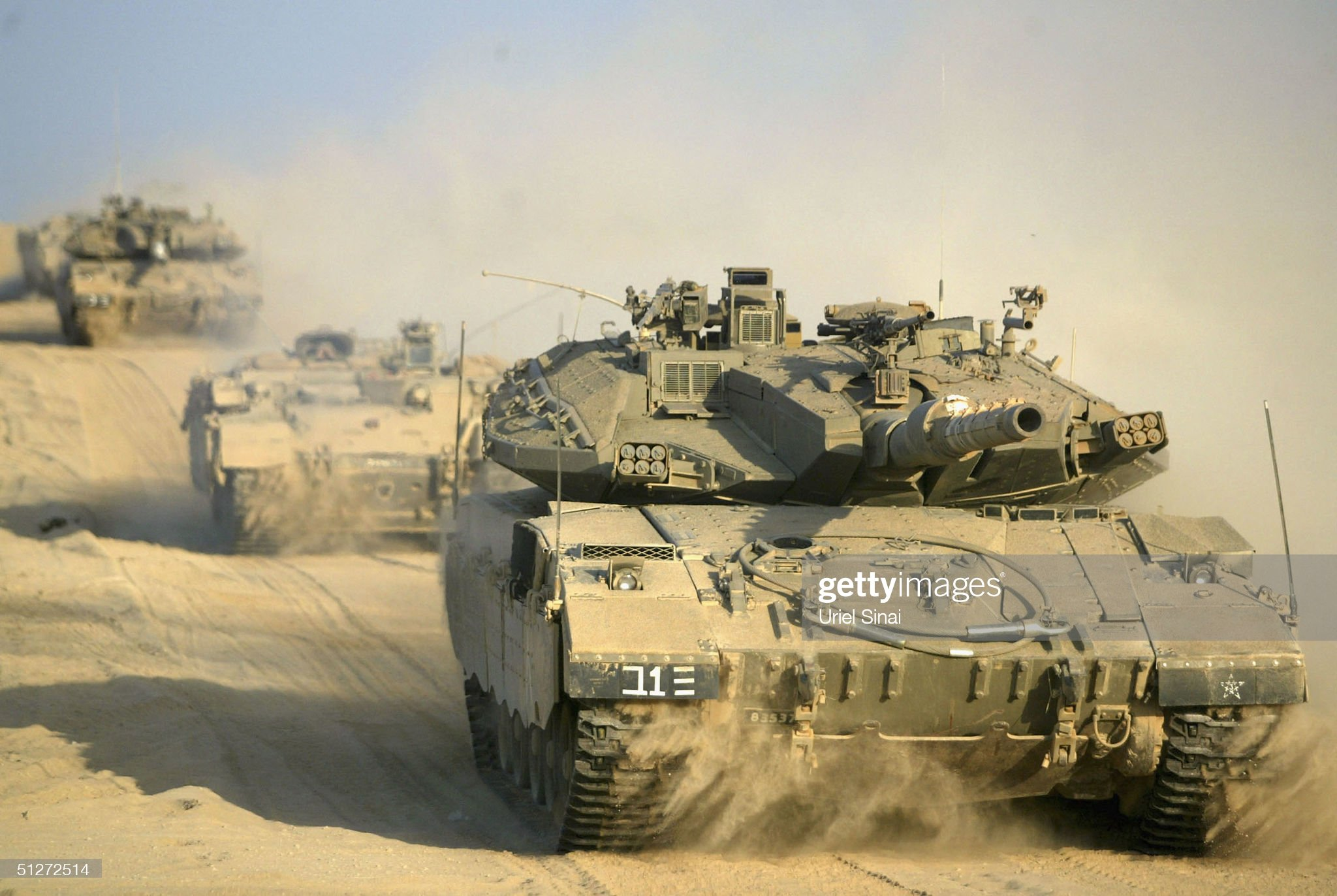 https://media.gettyimages.com/photos/israeli-army-vehicles-drive-from-israel-into-gaza-on-september-8-2004-picture-id51272514?s=2048x2048