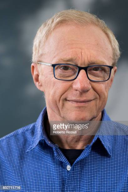 Israeli author David Grossman attends a photocall during the annual Edinburgh International Book Festival at Charlotte Square Gardens on August 16,...