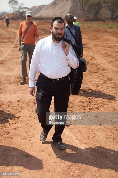 Israeli billionaire Dan Gertler prepares for a tour of the Mutanda copper and cobalt mine after arriving by helicopter in Katanga province Democratic...