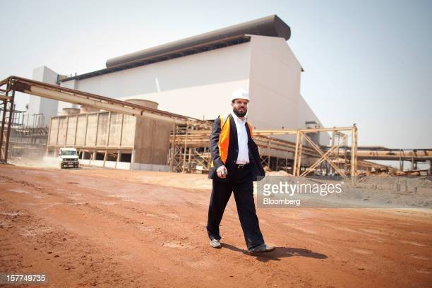 Israeli billionaire Dan Gertler walks through the Katanga Mining Ltd copper and cobalt mine complex during a tour of the operations in Kolwezi...