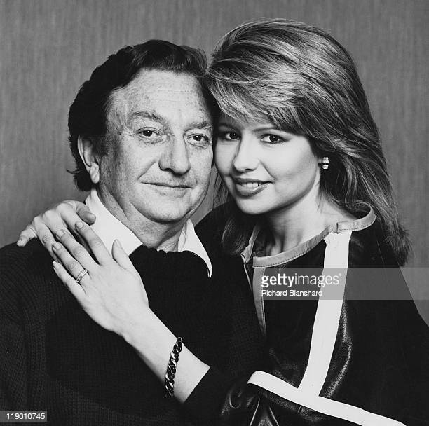 Israeli businessman Meshulam Riklis with his wife American actress and singer Pia Zadora circa 1977
