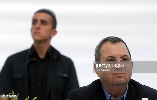 Israeli Defence Minister Ehud Barak is seen during a ceremony on July 31, 2007 in Jerusalem, Israel.