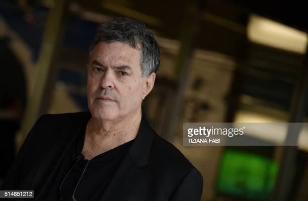 Israeli Director Amos Gitai poses for photographers before the opening his exhition Amos Gitai Chronicle of an assassination foretold at MAXXI museum...
