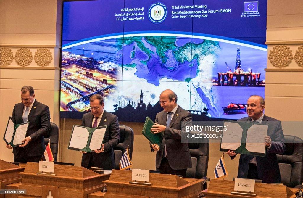 EGYPT-ISRAEL-GREECE-CYPRUS-ITALY-JORDAN : Nieuwsfoto's