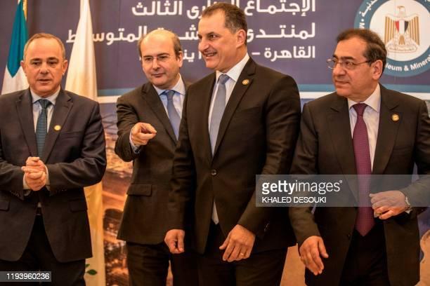 Israeli Energy Minister Yuval Steinitz , Greece's Energy Minister Kostis Hatzidakis , Egyptian Minister of Petroleum Tarek el-Molla and Cypriot...
