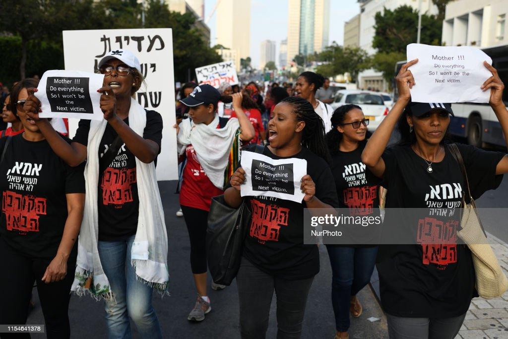Israeli Ethiopian Protest In Tel Aviv : Nachrichtenfoto