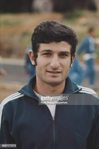 Israeli footballer David Karako member of the Israel national team squad for the 1970 FIFA World Cup posed during a training session in Tel Aviv...