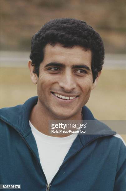 Israeli footballer Moshe Romano member of the Israel national team squad for the 1970 FIFA World Cup posed during a training session in Tel Aviv...