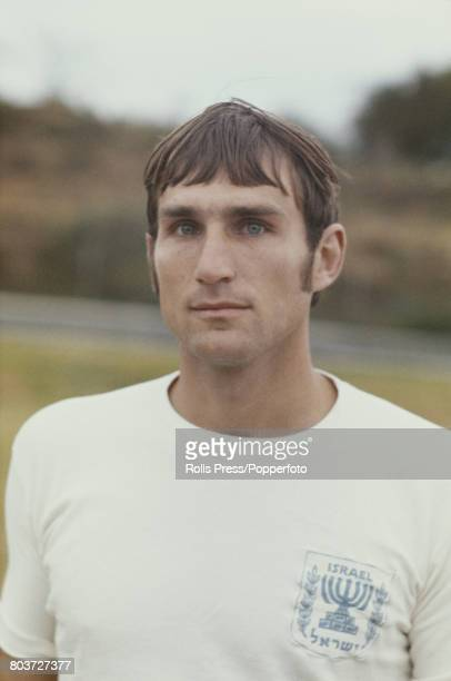 Israeli footballer Yochanan Vollach member of the Israel national team squad for the 1970 FIFA World Cup posed during a training session in Tel Aviv...