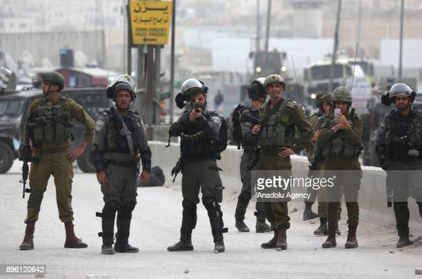 Israeli forces intervene in Palestinians during demonstration against US President Donald Trump's recognition of Jerusalem as Israel's capital near...