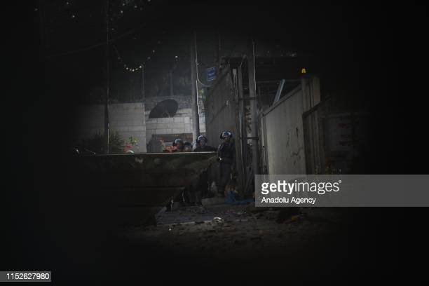 Israeli forces intervene Palestinians as they raid Palestinians on a second day after Mohammad Samir was shot with live ammunition in the heart and...