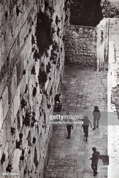 Israeli forces reach the Western Wall in Jerusalem after the capture of East Jerusalem during the Six Day War 1967