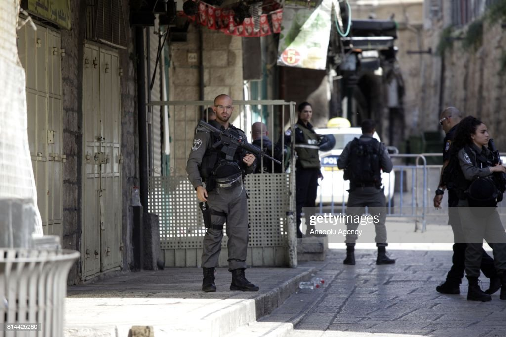 Israeli police kill 3 Palestinians in al-Aqsa mosque : News Photo