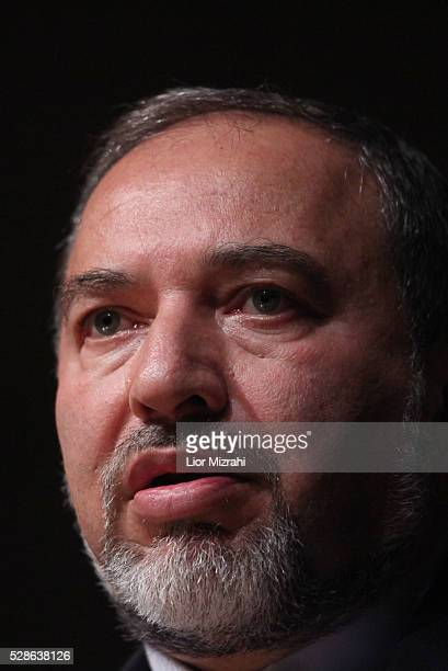 Israeli Foreign Minister Avigdor Liberman speaks during a conference in the Knesset, Israeli Parliament, on February 07, 2011 in Jerusalem, Israel.