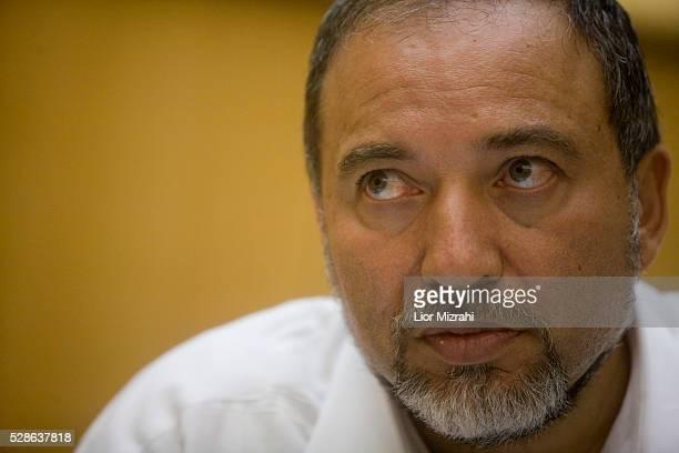 Israeli Foreign Minister Avigdor Lieberman speaks during an interview, Jerusalem, Israel, July 19, 2010.