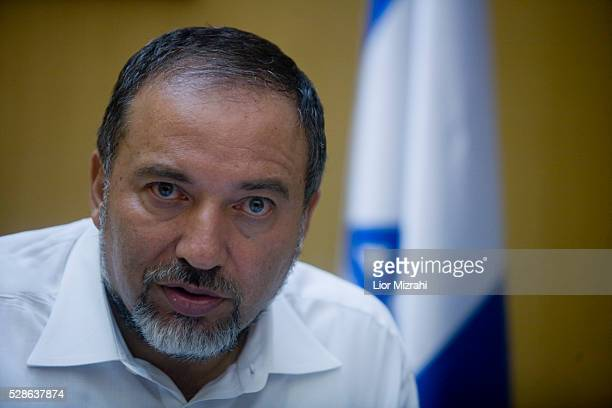 Israeli Foreign Minister Avigdor Lieberman speaks during an interview on July 19, 2010 in Jerusalem, Israel.