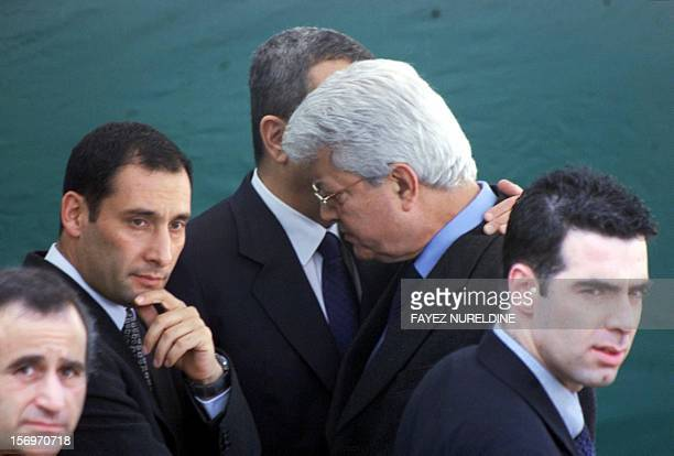 Israeli Foreign Minister David Levy listens to Prime Minister Ehud Barak after meeting with Palestinian Authority President Yasser Arafat at the Erez...