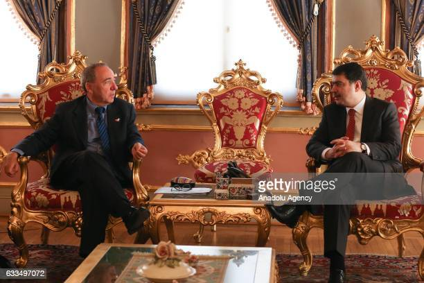 Israeli Foreign Ministry Undersecretary, Yuval Rotem meets with Governor of Istanbul, Vasip Sahin during his visit at Governorship of Istanbul in...