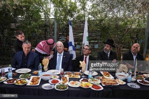 Israeli high-tech and social entrepreneur Erel Margalit, Israel's President Reuven Rivlin, the mayor of the Arab-Israeli town of Abu Ghosh Salim...