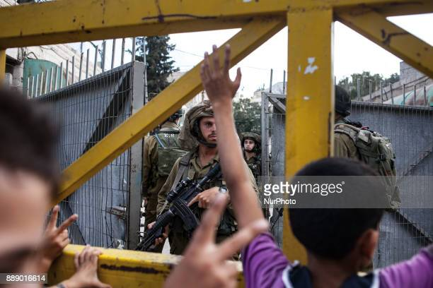 Israeli IDF soldiers leaving Palestinian part of Hebron In 2014 Israel launched military operation on 8 July 2014 in the Hamasruled Gaza Strip...