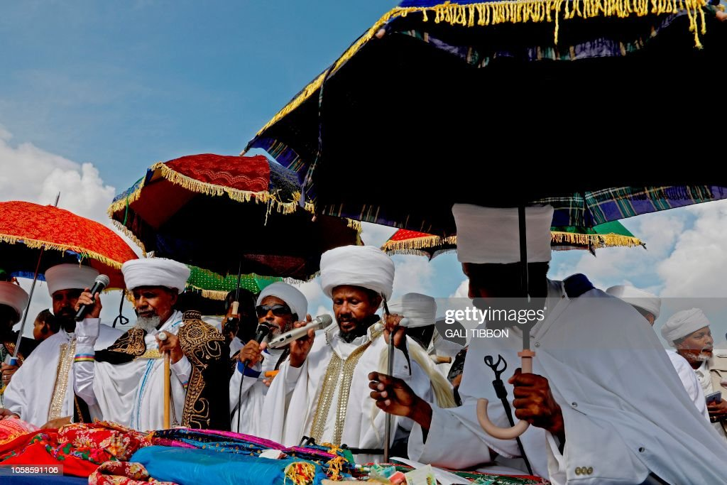Israeli 'Kessim' or religious leaders of the Ethiopian Jewish