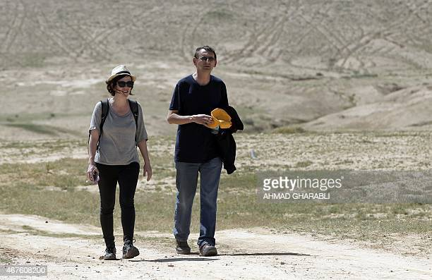 Israeli leftwing parliament member Dov Khenin takes part in a fourday march to Jerusalem to support Bedouin Arabs on March 26 in the Bedouin village...
