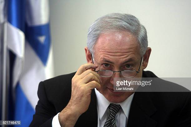 Israeli Likud party leader Benjamin Netanyahu is seen in the Knesset, Israeli Parliament on December 31, 2007 in Jerusalem, Israel.