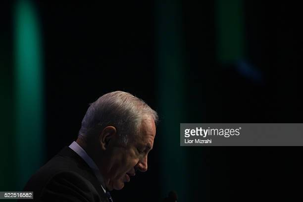 Israeli Likud party leader Benjamin Netanyahu speaks during a conference on November 19, 2008 in Jerusalem, Israel.