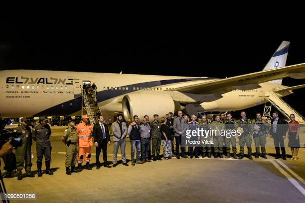Israeli military plane arrives at Belo Horizonte airport to help search for victims of the collapse of a mine dam belonging to the Brazilian mining...