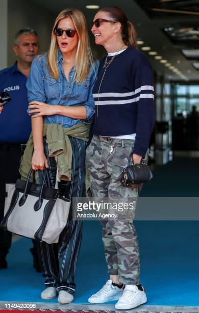 Israeli model Bar Refaeli arrives in Turkey's Antalya province for Dosso Dossi Fashion Show on June 12, 2019.