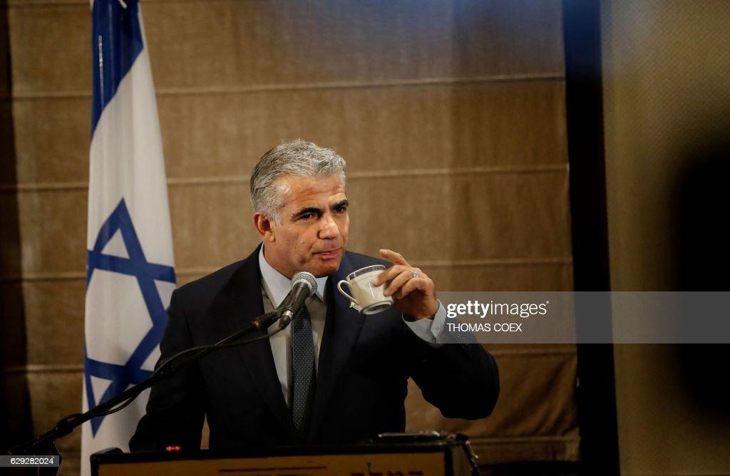 ISRAEL-PALESTINIAN-POLITICS-LAPID : Nachrichtenfoto