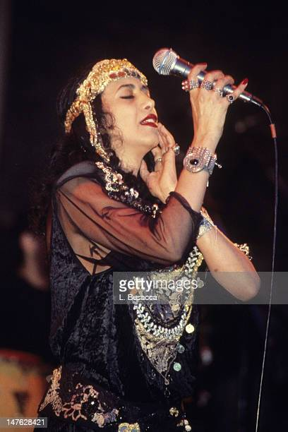 Israeli musician Ofra Haza performs in concert New York New York circa 1990