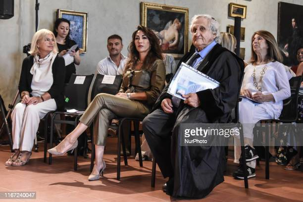Israeli novelist Abraham B. Yehoshua attends to receiving the honorary doctorate degree in philosophical and historical sciences from magnificent...