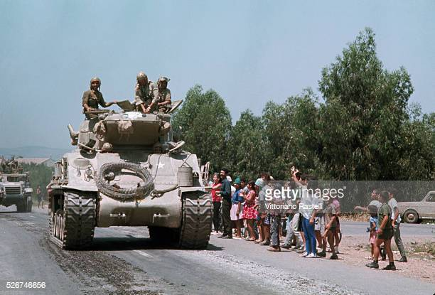Israeli people jubilantly greet their soldiers as they return from the SixDay War By June 10 when the fighting was halted Israel controlled the...