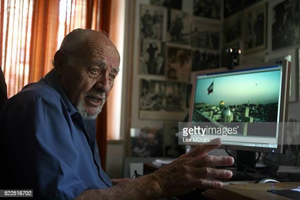 Israeli photographer David Rubinger in his house on June 05 2008 in Jerusalem Israel