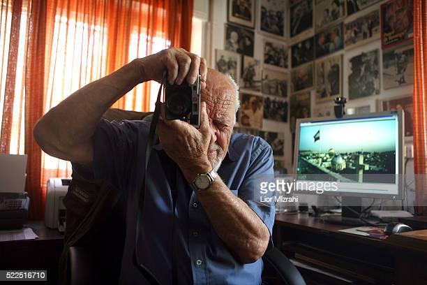 Israeli photographer David Rubinger in his house on June 05, 2008 in Jerusalem, Israel.