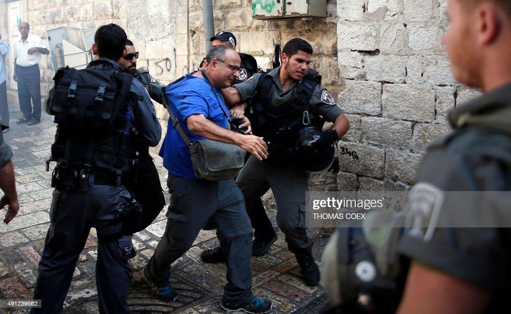 PALESTINIAN-ISRAEL-CONFLICT-JERUSALEM-ATTACK : News Photo