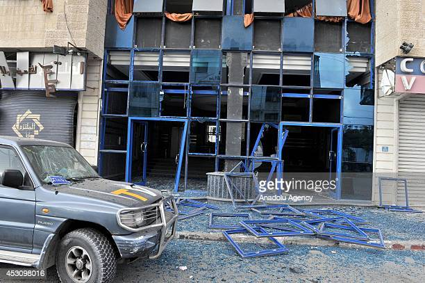 Israeli planes struck a building housing Anadolu Agency office in western Gaza City early SundayAugust 3 2014 AA office sustained minor damage in the...