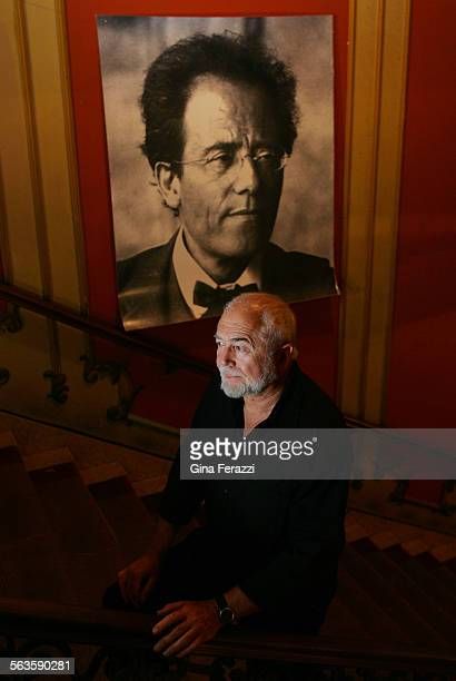 Israeli playwright Joshua Sobol wrote the play Alma that is being staged at the ornate Los Angeles Theatre A photo of Alma Mahler's second husband...