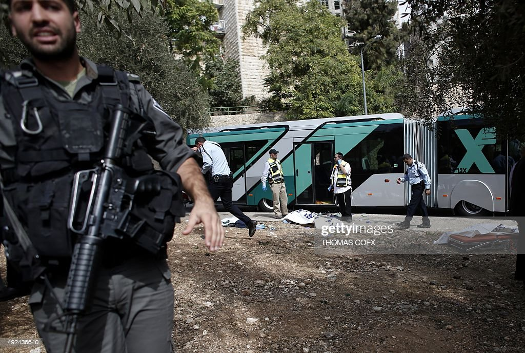 ISRAEL-PALESTINIAN-CONFLICT-ATTACK : News Photo