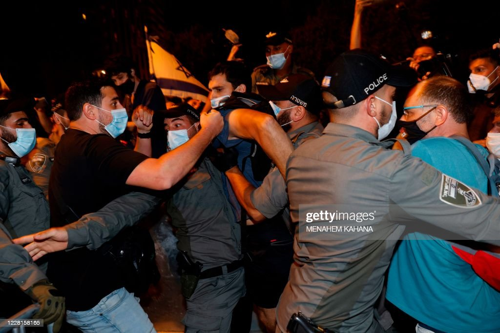 ISRAEL-POLITICS-DEMO : News Photo