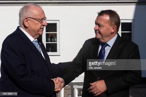 Israeli President Reuven Rivlin and Danish Prime Minister Lars Lokke Rasmussen meet at the Prime Ministers official residence on the occasion of the...