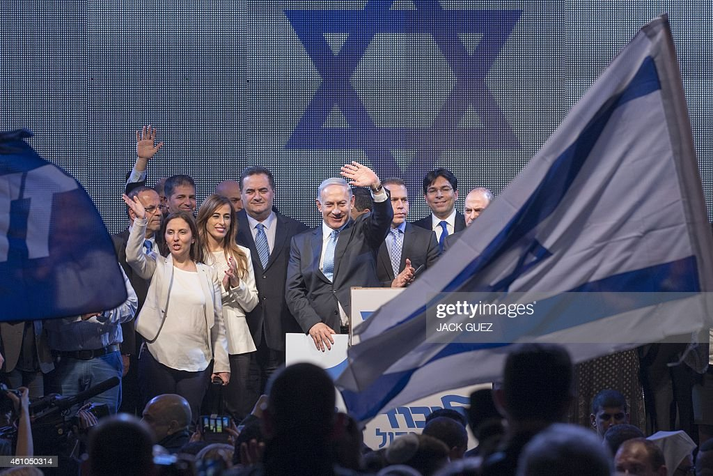 ISRAEL-POLITICS-ELECTION-NETANYAHU : News Photo