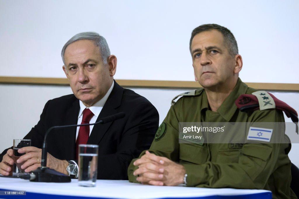 PM Netanyahu And IDF Chief Kochavi Make Statement After Islamic Jihad Chief Targeted : Nieuwsfoto's