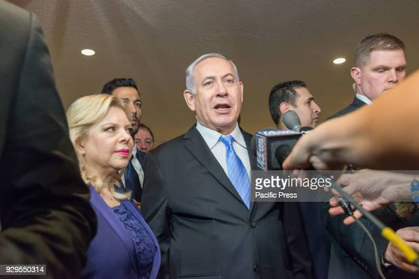Israeli Prime Minister Benjamin Netanyahu attended and delivered remarks at an exhibit entitled '3000 years of history Jews in Jerusalem' at UN...