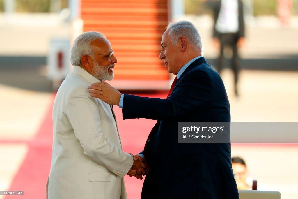 ISRAEL-INDIA-DIPLOMACY : ニュース写真