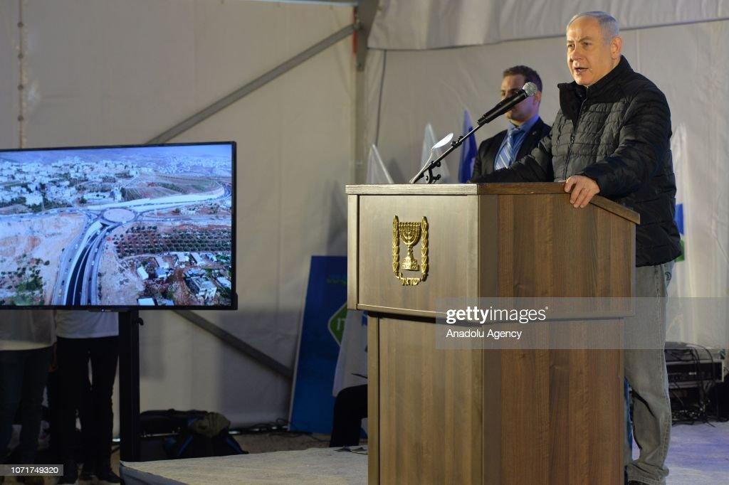Israeli Prime Minister Benjamin Netanyahu : News Photo