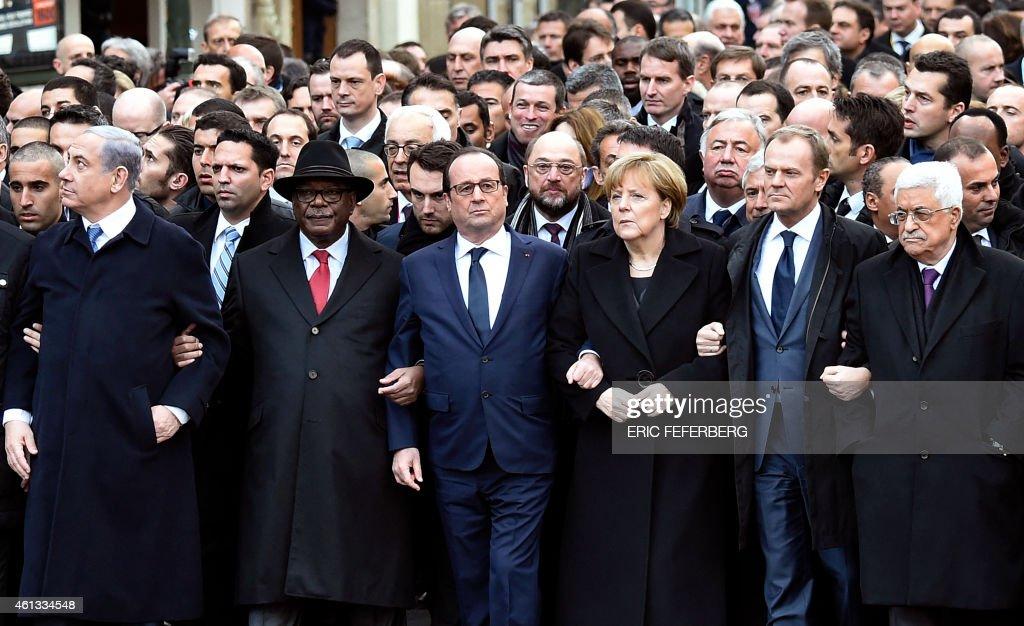 FRANCE-ATTACKS-CHARLIE-HEBDO-DEMO : Nachrichtenfoto