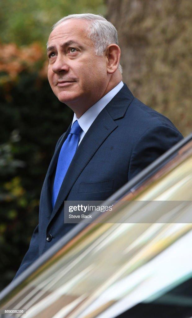 Theresa May Meets With Prime Minister Of Israel Benjamin Netanyahu : News Photo
